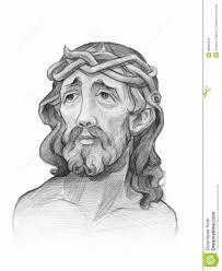 jesus digital pencil sketch royalty free stock images image