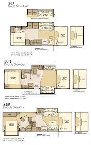 house plan prowler travel trailer floor best fifth wheel plans