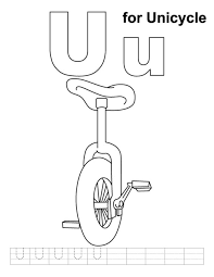 unicycle alphabet coloring pages free alphabet coloring pages of