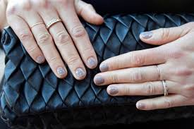 nail idea how to for diy gray gold dot stud nails glamour