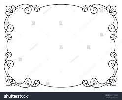 calligraphic rectangle frame simple frame ornament stock vector