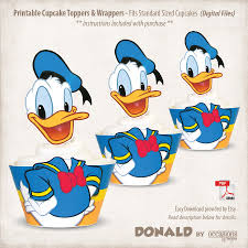 instant download printable donald duck cupcake toppers u0026