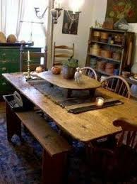 Primitive Kitchen Table by Farmhouse U2013 Interior U2013 Windsor Chairs Grandfather Clock Round