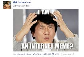 jackie chan facebook post my brain is full of fuck know your meme