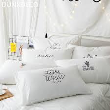 DUNXDECO Bedding Decorative Pillow Case White Cotton Cushion Cover