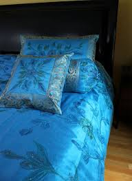 Ocean Duvet Cover Hand Painted 7 Piece Duvet Cover Set Banarsi Designs
