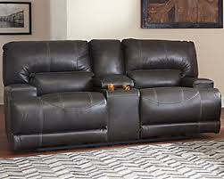 Gray Leather Sofas Mccaskill Power Reclining Sofa Ashley Furniture Homestore