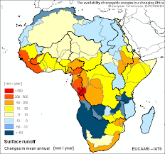 africa map by year the availability of renewable energies in a changing africa