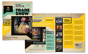 builder s trade show brochure template word publisher