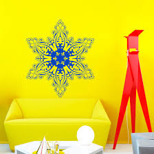 popular huge wall murals buy cheap huge wall murals lots from newest huge snowflake tribal pattern wall sticker vinyl christmas festival wall mural home special decorative hot