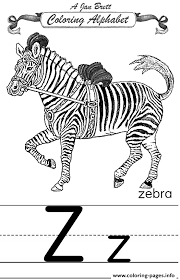 coloring alphabet traditional zebra coloring pages printable