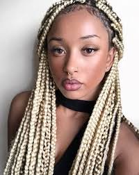 box plaits hairstyles inspiring ways to style your thick box braids