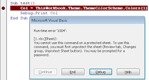 can u0027t access themecolorscheme if workbook has protected sheets