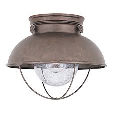 Outdoor Flush Mount Ceiling Light Sea Gull Lighting 8869 44 Sebring One Light Outdoor Flush Mount