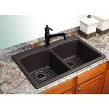 Brown Kitchen Sink Kitchen Sinks Bar Granite Composite Specialty Matte Black Flooring