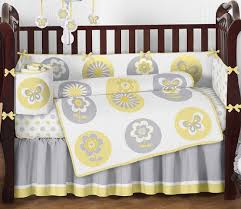 Grey And Yellow Crib Bedding Sweet Jojo Designs 9 Yellow Gray And White Mod