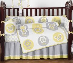 Yellow And Gray Crib Bedding Set Sweet Jojo Designs 9 Yellow Gray And White Mod