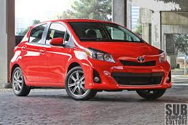 toyota old models review 2012 yaris se a surprisingly sporty mix of new and old
