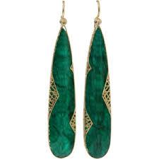 emerald earrings yossi harari emerald slice lace earrings polyvore