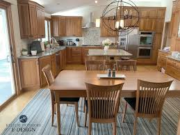 best wall color with oak kitchen cabinets update oak or wood cabinets without a drop of paint