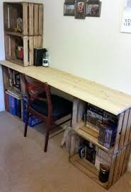 Building Wood Computer Desk by Best 25 Crate Desk Ideas On Pinterest Crate Storage Desk And