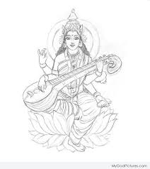 beautiful sketch of mata laxmi god pictures