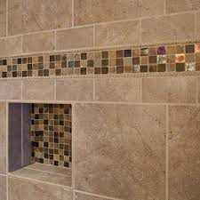 Interesting Bathroom Tile Ideas Neutral Cream With Mosaic Tiles Design - Bathroom designs with mosaic tiles