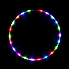 led hula hoop fully rechargeable and collapsable 28 color
