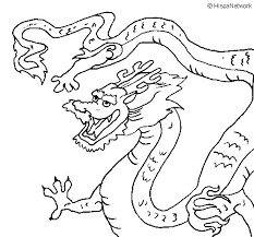 chinese dragon coloring coloringcrew