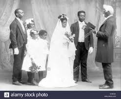 american wedding traditions entitled she was led to the altar shows an american