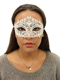 metal masquerade mask white glitter metal masquerade mask fancydress