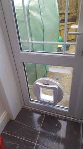 Interior Cat Door by Cat Flap Fitted To Glass Door Whitley Bay D R Locks