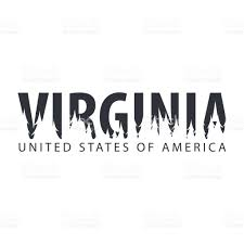 Map Of United States Vector by Virginia Usa United States Of America Text Or Labels With