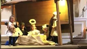 toddler snatches baby jesus during pageant cnn