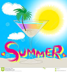 cocktail drawing summer drawing stock vector image of card blinding 49518271