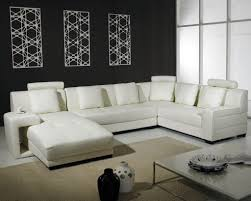 White Leather Living Room Set Best White Leather Sectional Sofa For Small Living Room