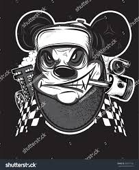 motocross racing logo rat racing team motocross logo tshirt stock vector 360247100