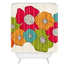 Deny Shower Curtains Flower Shower Curtains A Splash Of Color In Your Bathroom