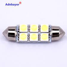 car dome light bulbs ᗐ10x 39mm 5050 6 smd led car dome festoon interior light bulbs auto