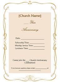 church anniversary ideas