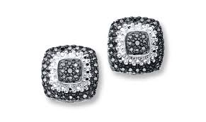 s diamond earrings diamonds fashion blackout earrings black diamond square stud
