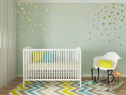 Nursery Stickers Gold Star Stickers Wall Decals For Baby Or Baby Boy