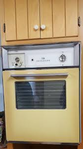 Retro Toaster Ovens Harvest Gold Yellow Vintage Retro Built In Wall Oven Stove Unit Gm