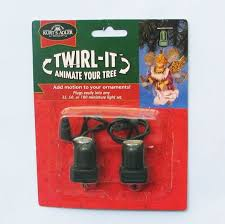 twirl it motor pigtail rotating ornament spinner set of 2