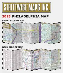 streetwise philadelphia map laminated city center street map of