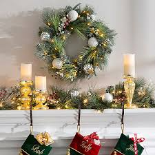 How To Decorate A Mantel For Christmas Christmas Decorating Ideas Mantel Decor Improvements Blog