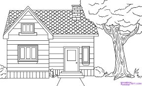 house drawing design clipart in steps