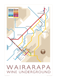 underground map wairarapa wine underground map memento maps