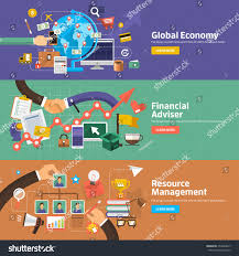 flat design concepts global economy financial stock vector