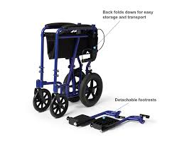 amazon com medline lightweight transport folding wheelchair